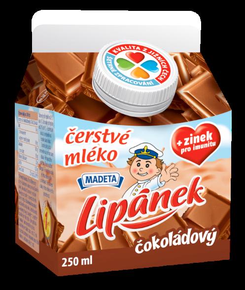 Značka čerstvé mléko Lipánek čokoládový
