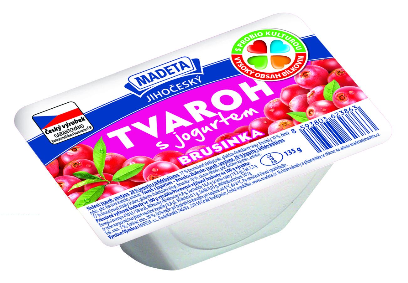 Značka Tvaroh s jogurtem brusinka