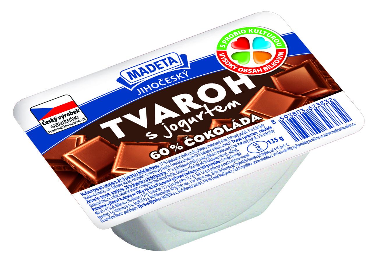 Značka Tvaroh s jogurtem čokoláda