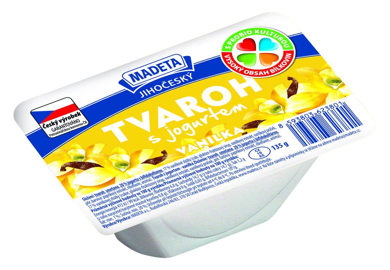 Značka Tvaroh s jogurtem vanilka