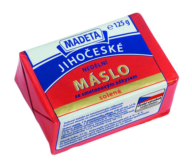 Značka Nedělní máslo solené