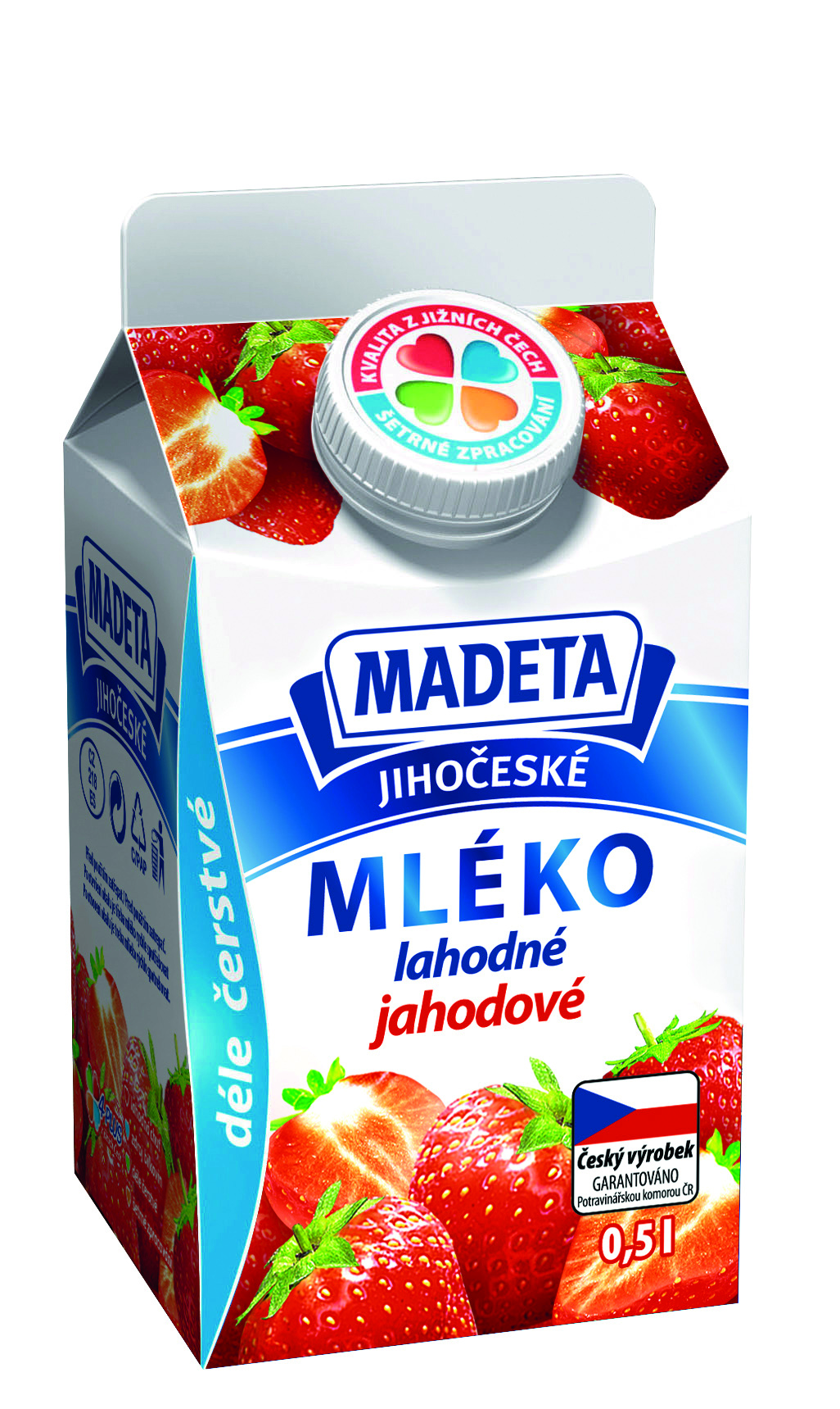 Značka Mléko jahodové
