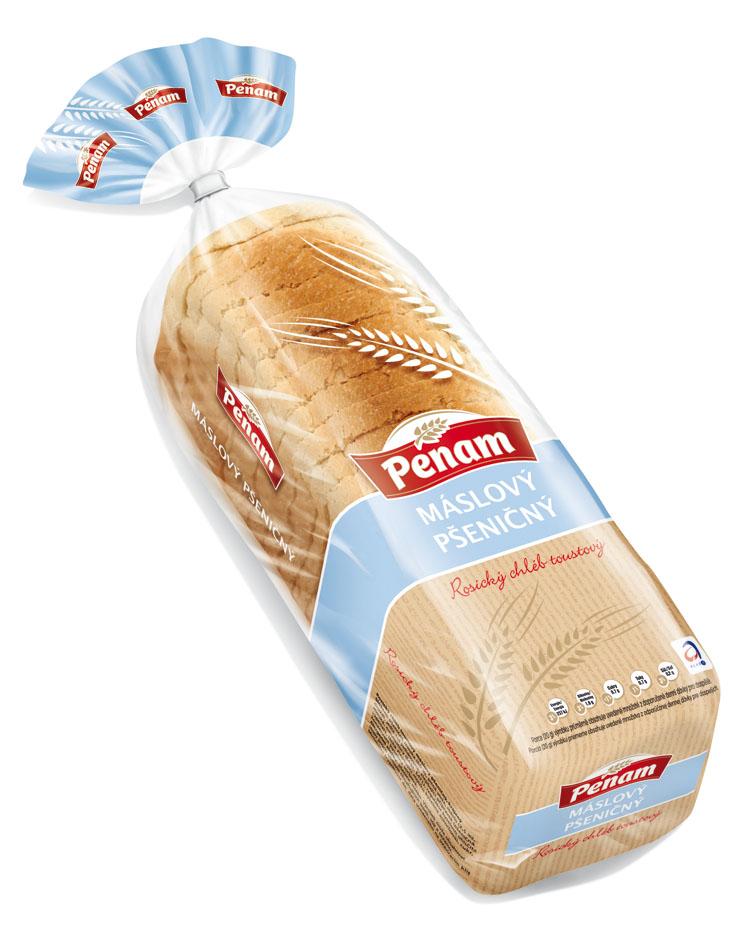 Značka Rosický chléb máslový pšeničný 500 g