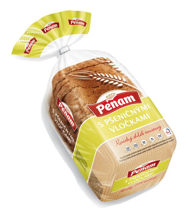Značka Rosický chléb toustový s pšeničnými vločkami 250G