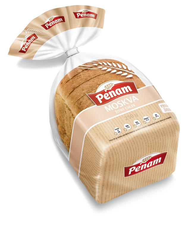 Značka Chléb žitný Moskva 250g