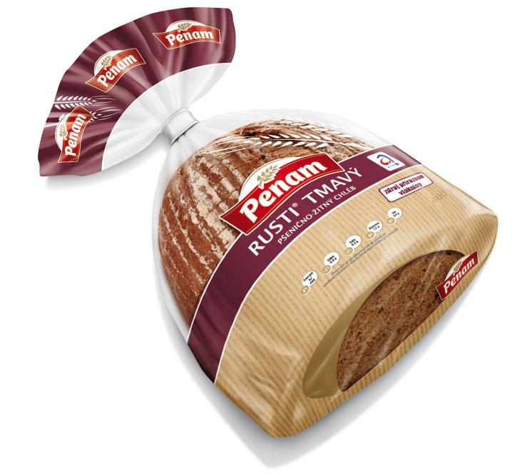 Značka Chléb rusti tmavý 400g