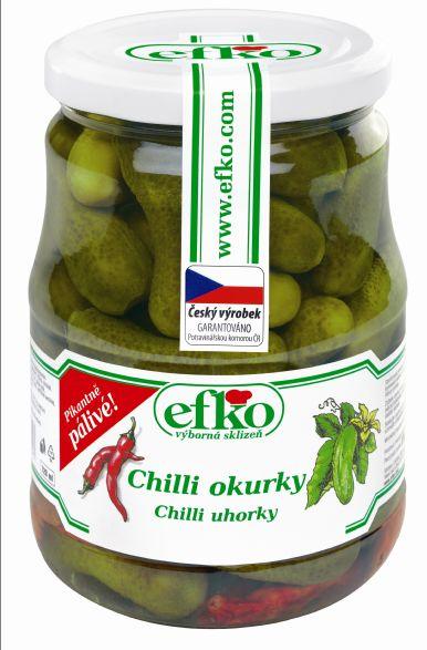 Značka Chilli okurky