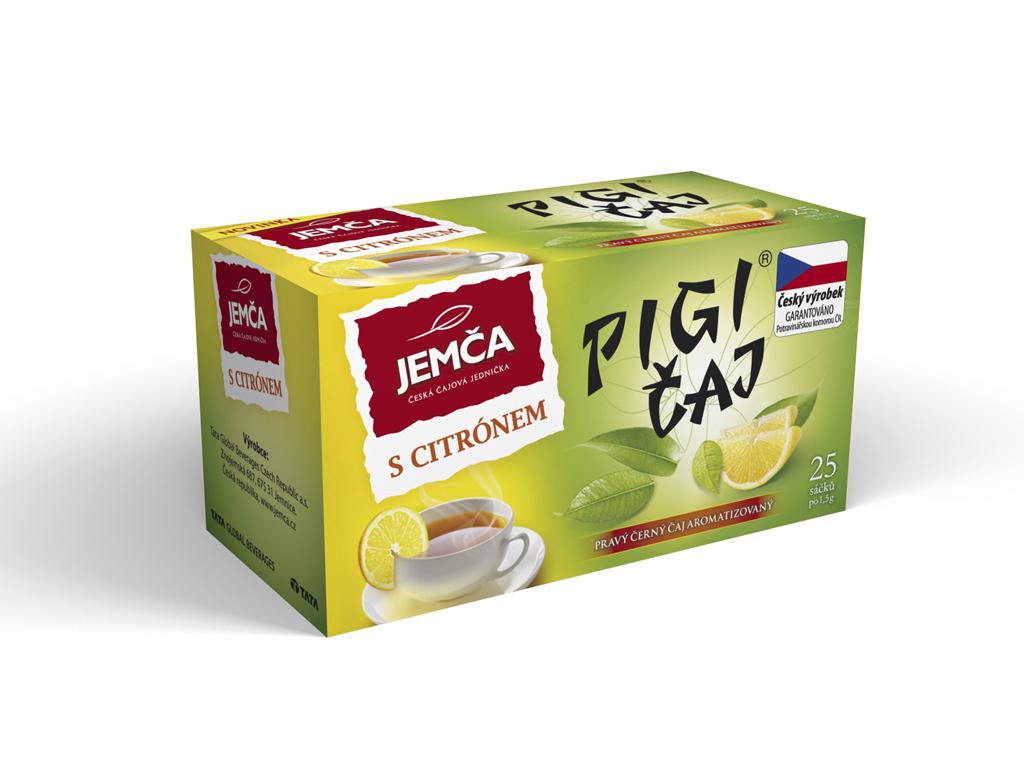 Značka pigi čaj černý – citron
