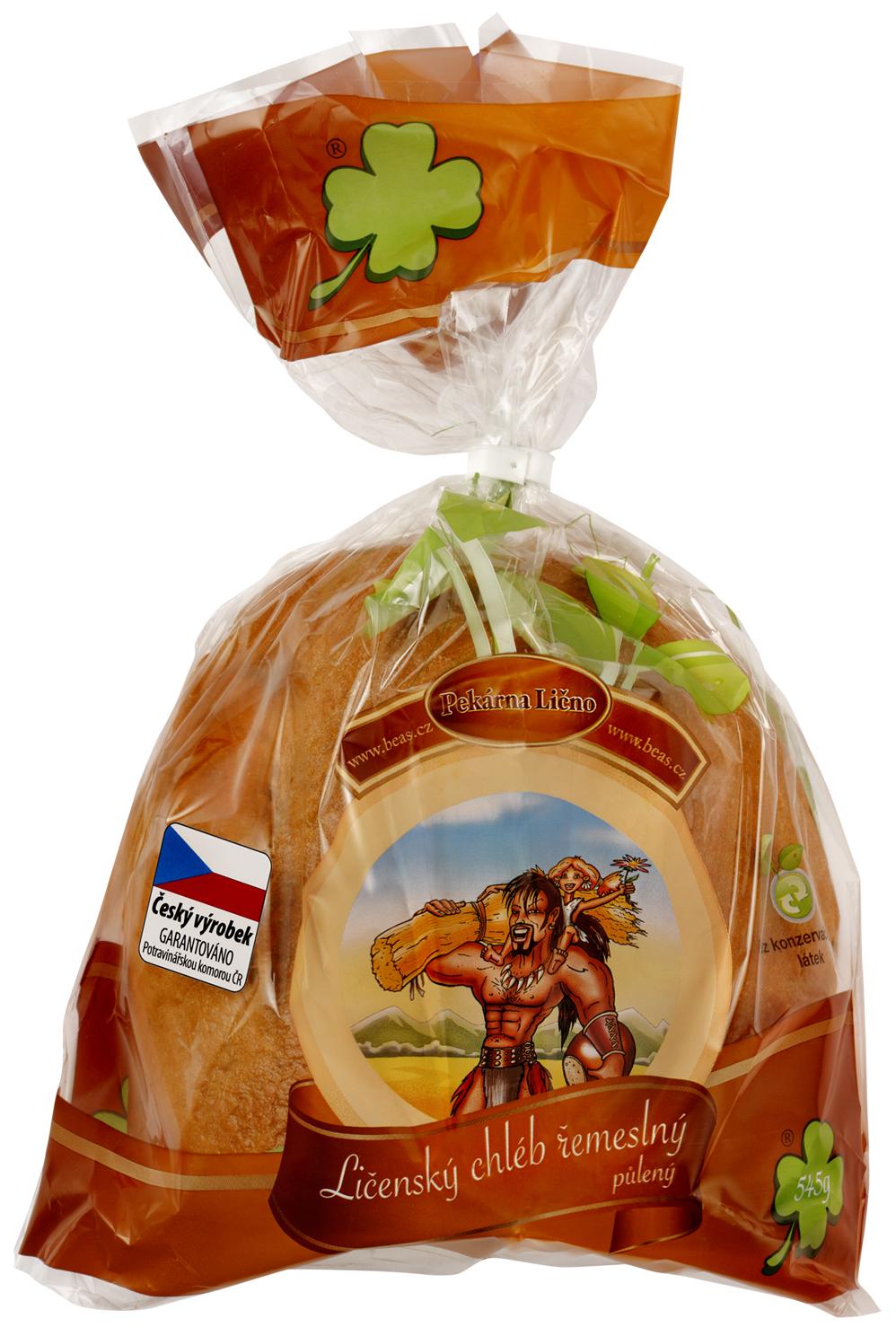 Značka Beas chléb řemeslný půl
