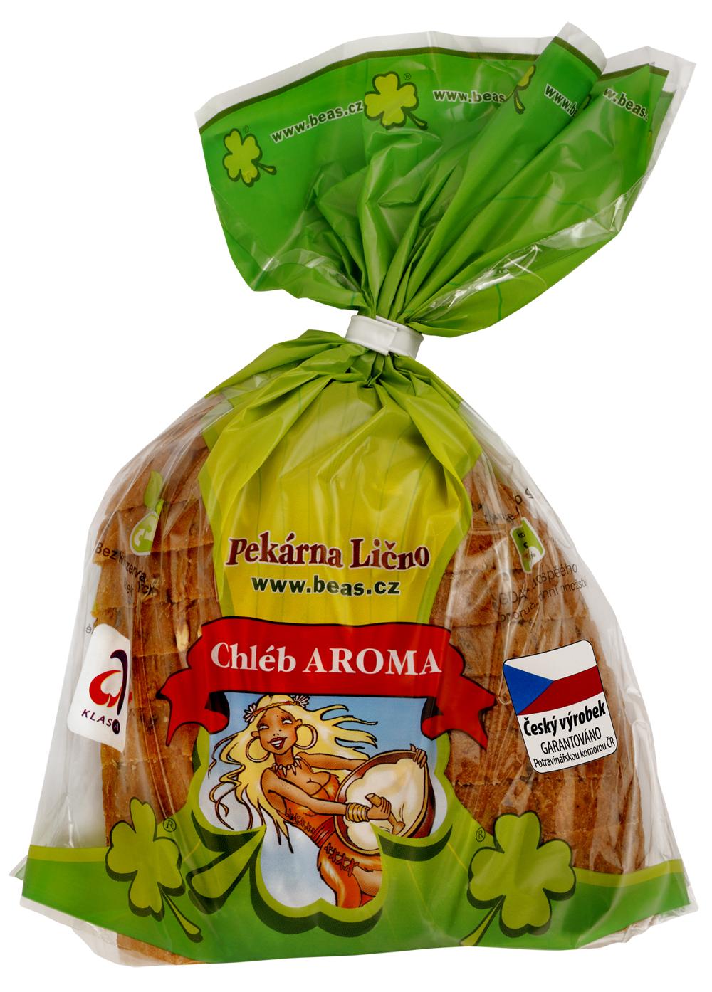 Značka Beas chléb Aroma krájený