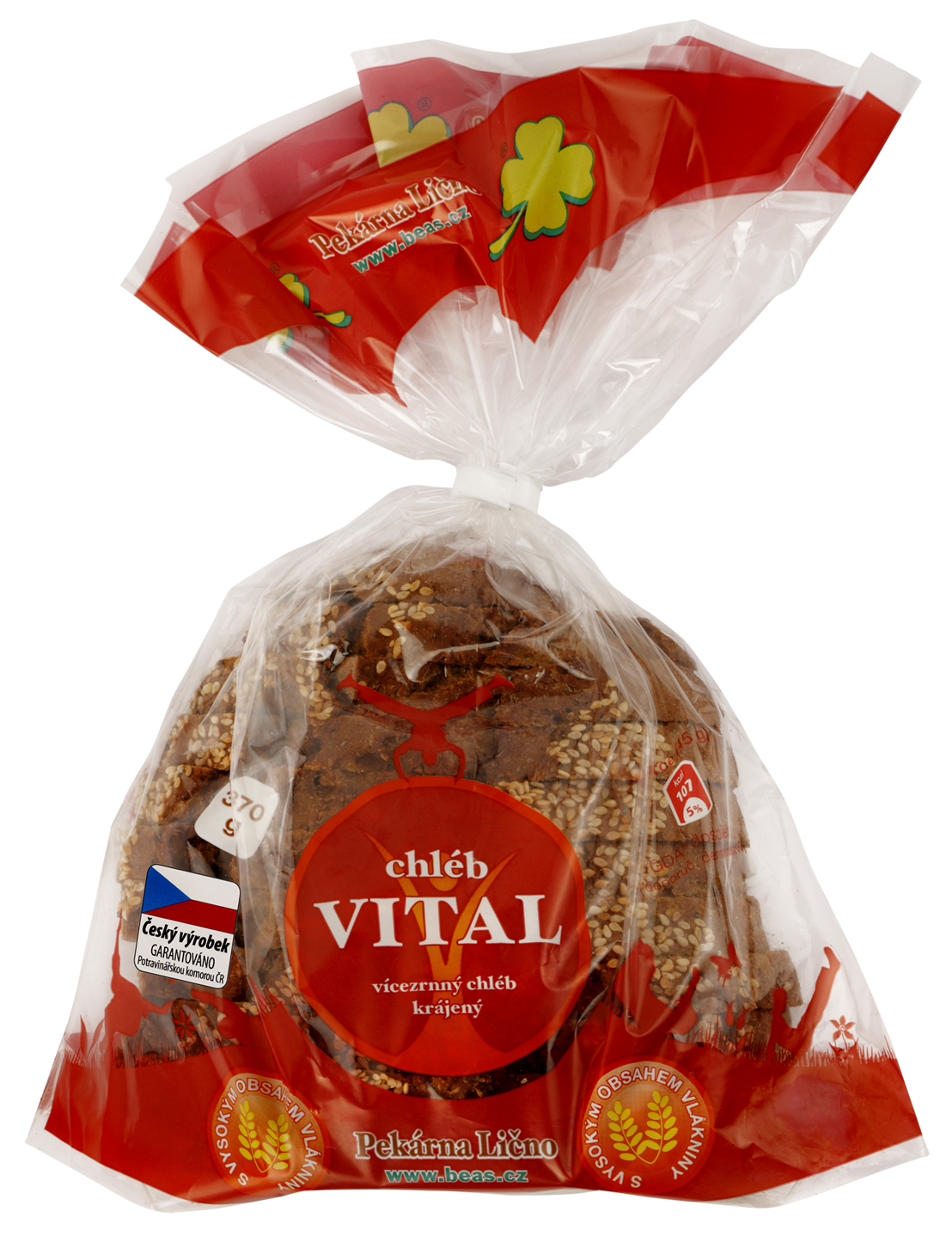 Značka Beas chléb Vital krájený