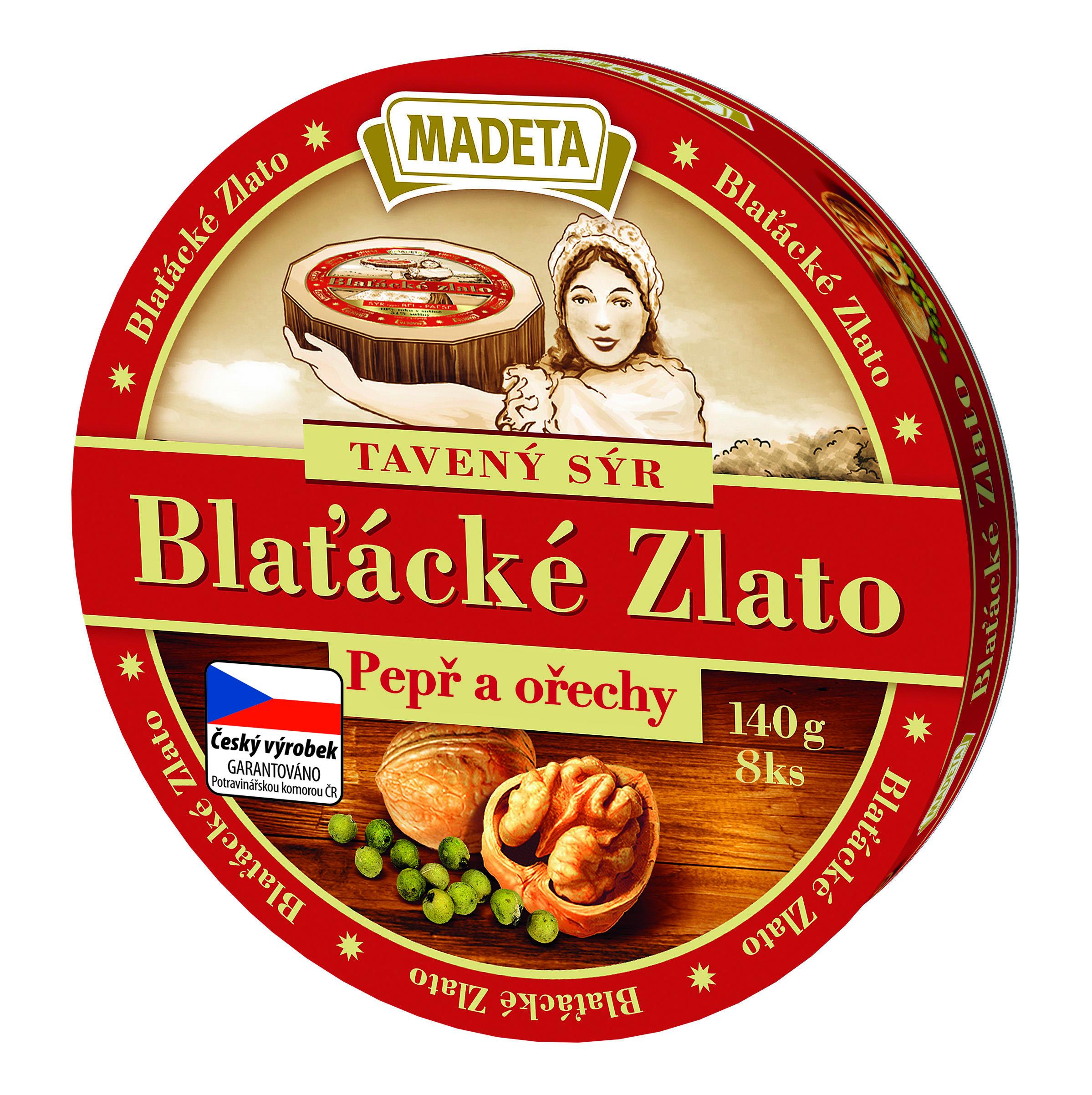 Značka Blatacke zlato tavený sýr 140 g