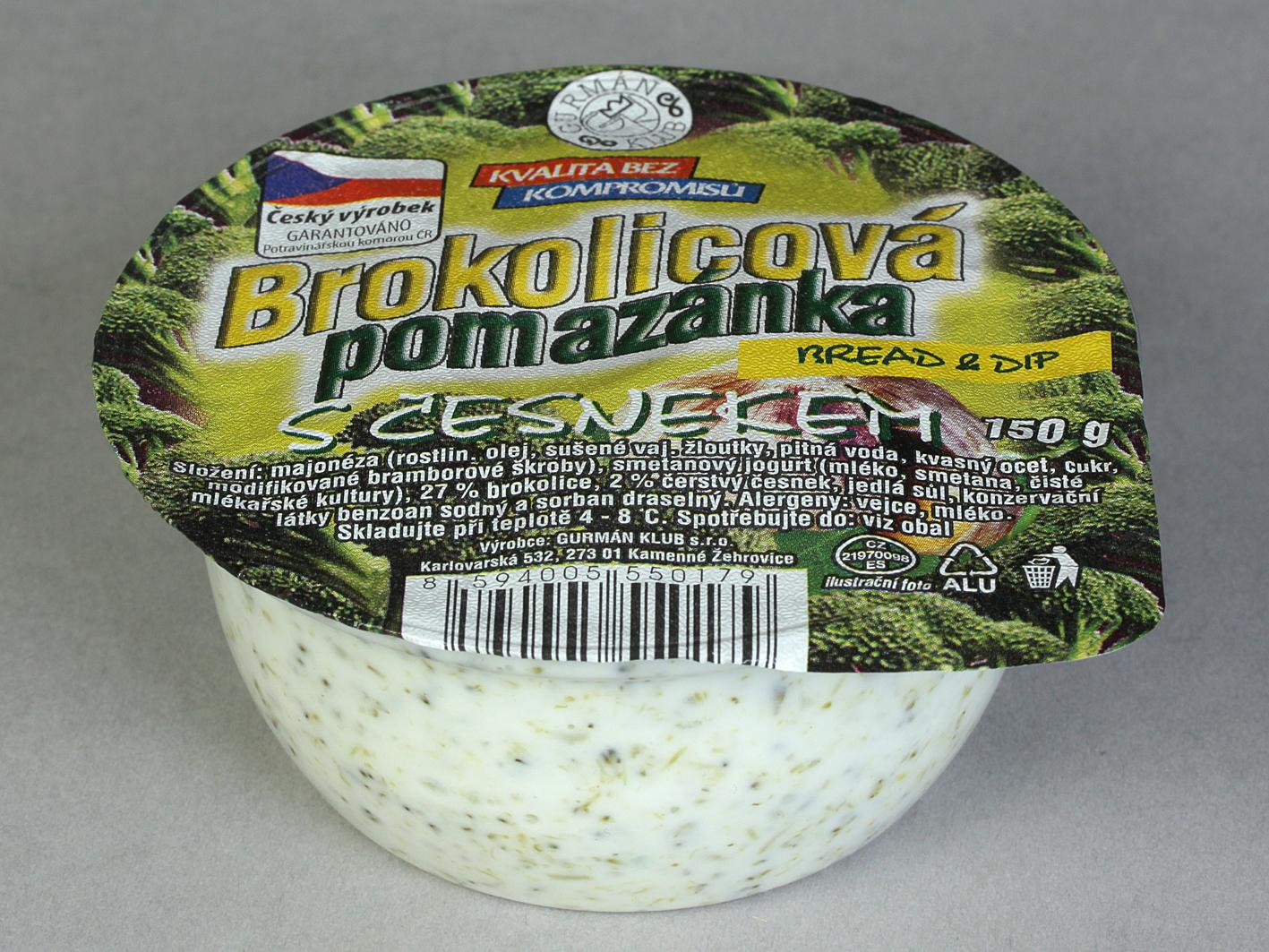 Značka Brokolicová pomazánka s česnekem 150g