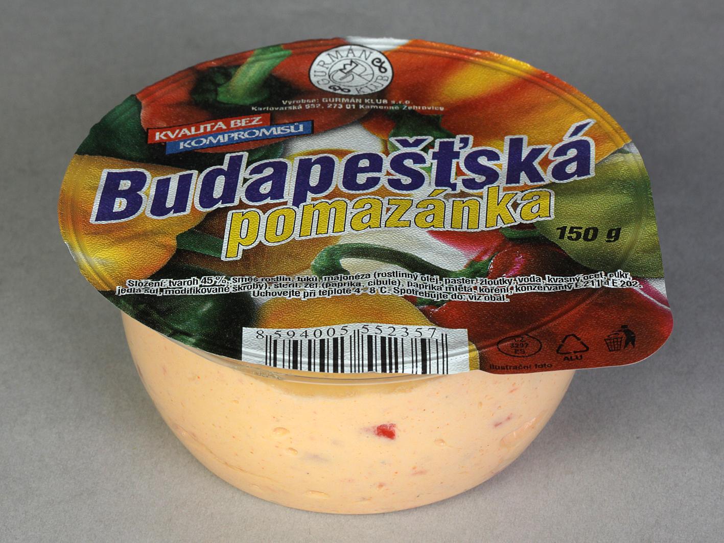 Značka Budapešťská pomazánka 150g