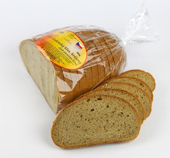 Značka Chléb Kladenský klas krájený, 550 g