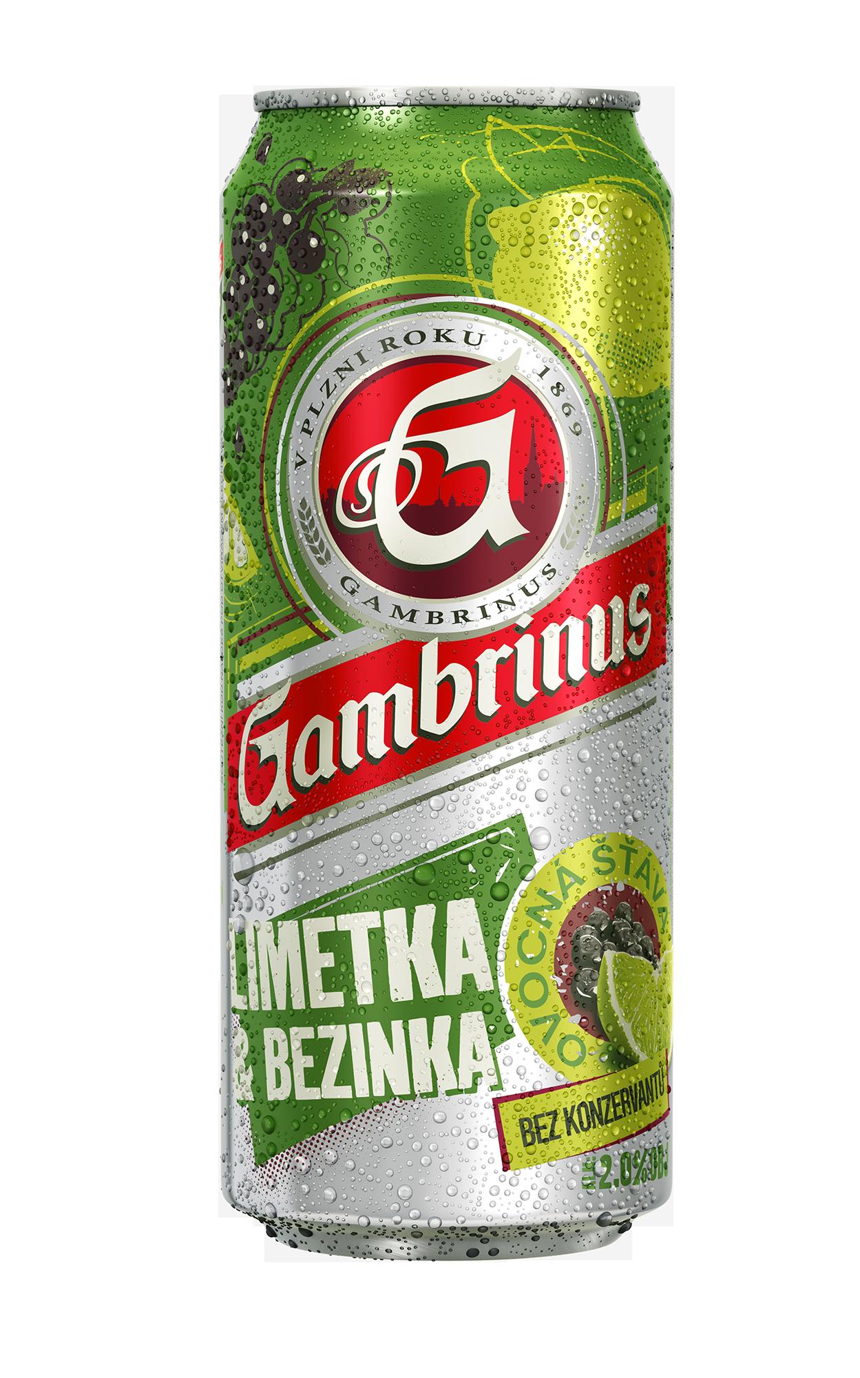Značka Gambrinus limetka a bezinka