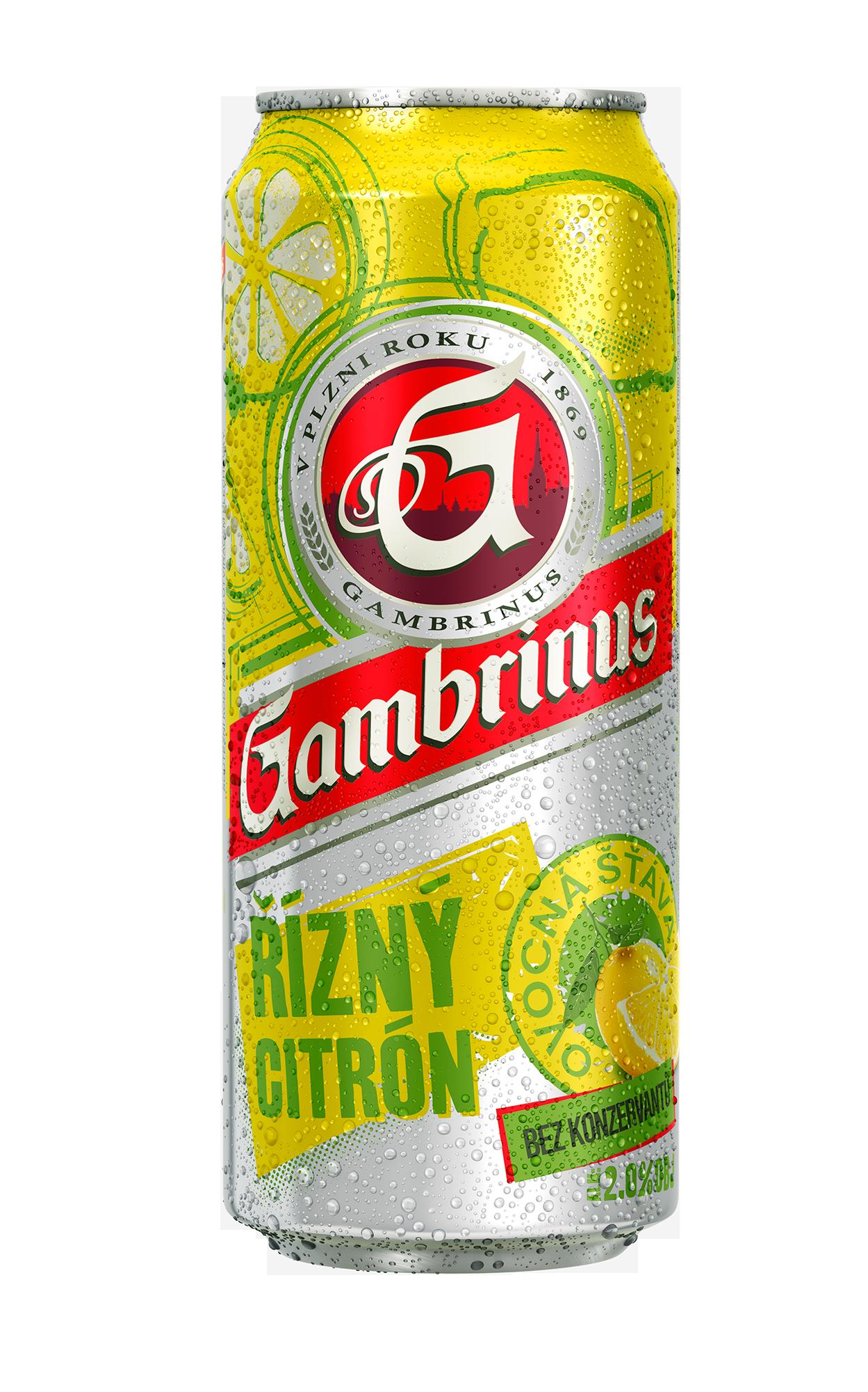 Značka Gambrinus citron