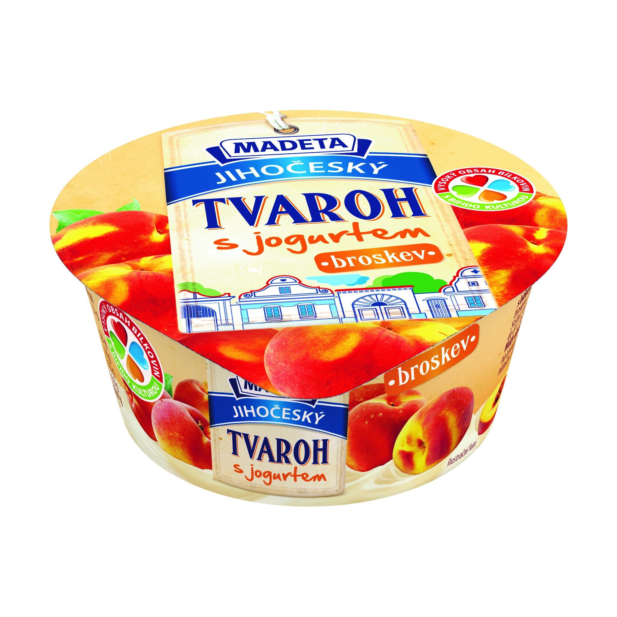 Značka JIhočeský tvaroh s jogurtem broskev