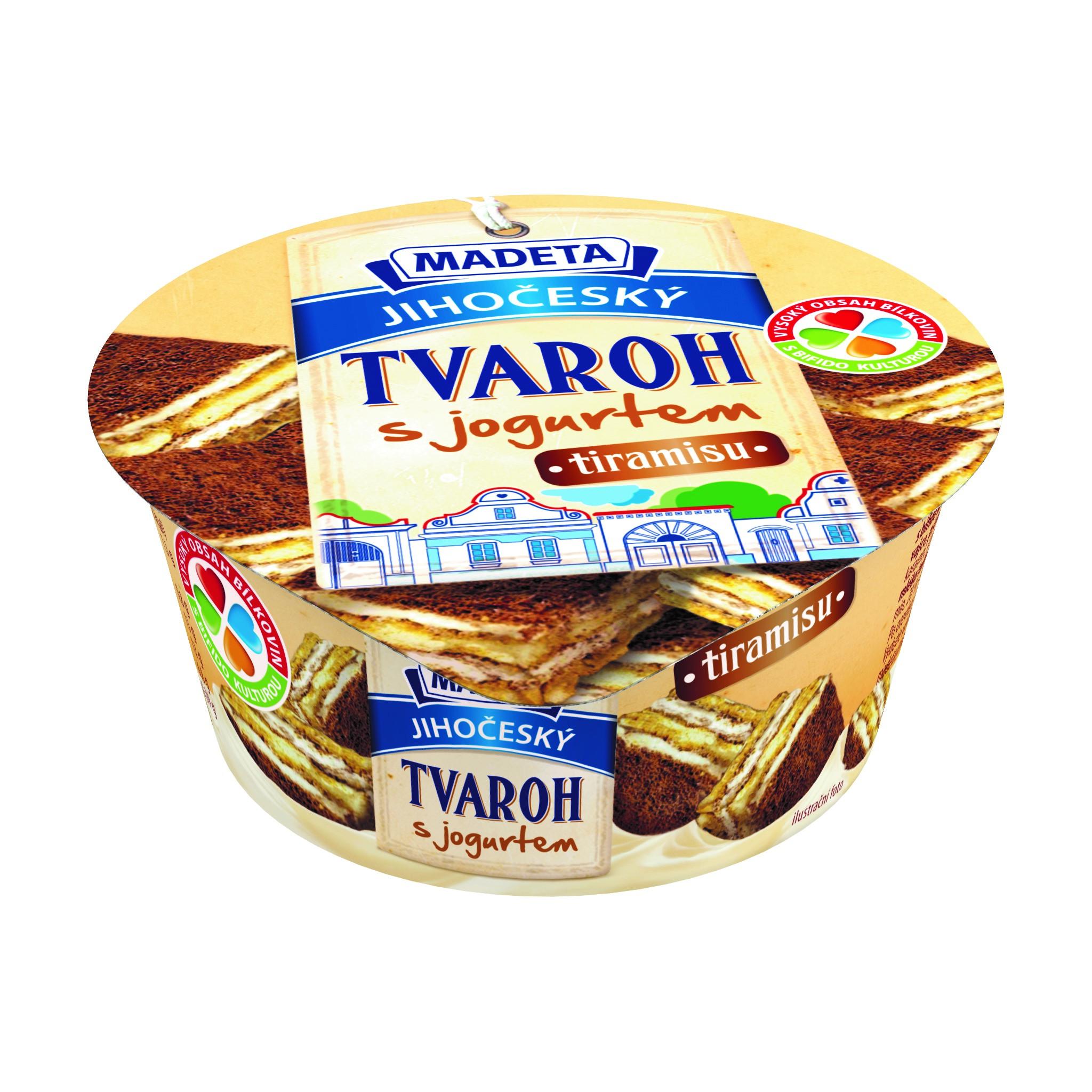 Značka JIhočeský tvaroh s jogurtem tiramisu