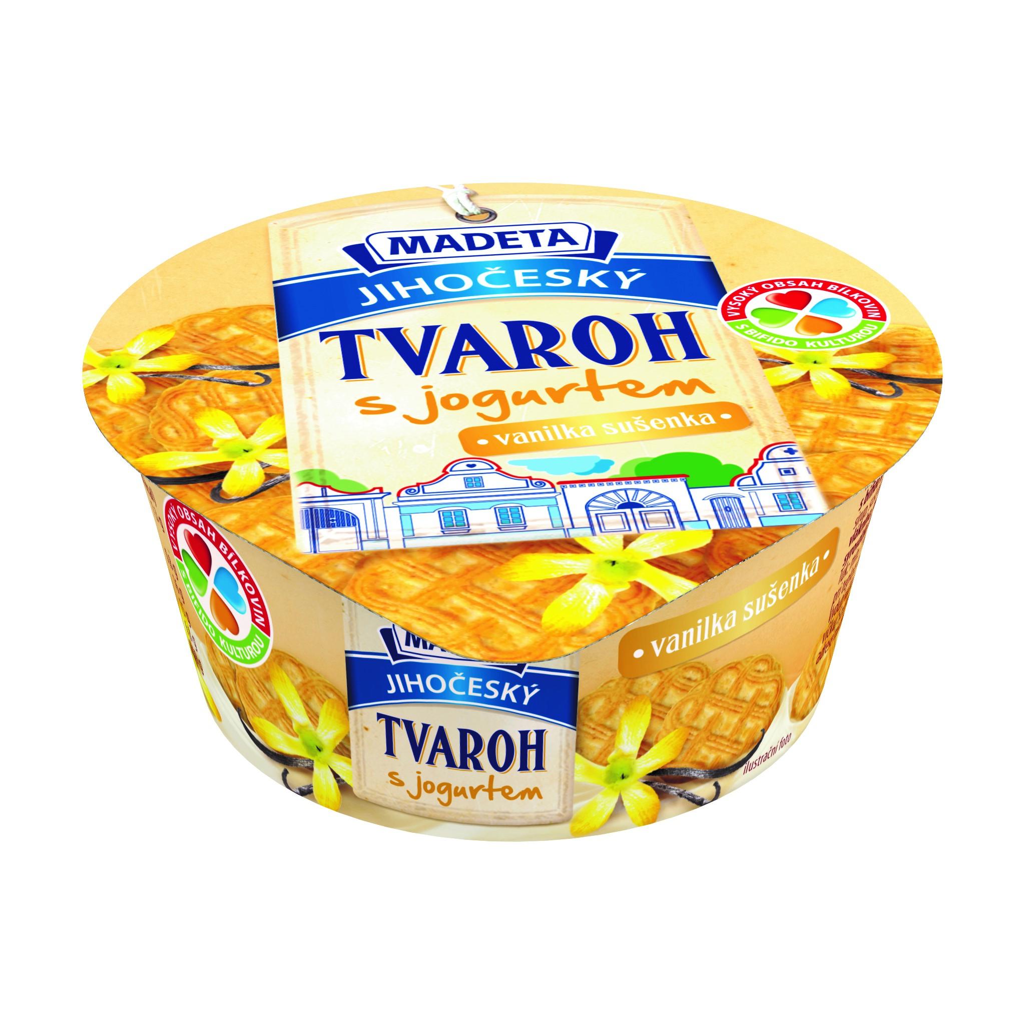 Značka Jihočeský tvaroh s jogurtem vanilka-sušenka