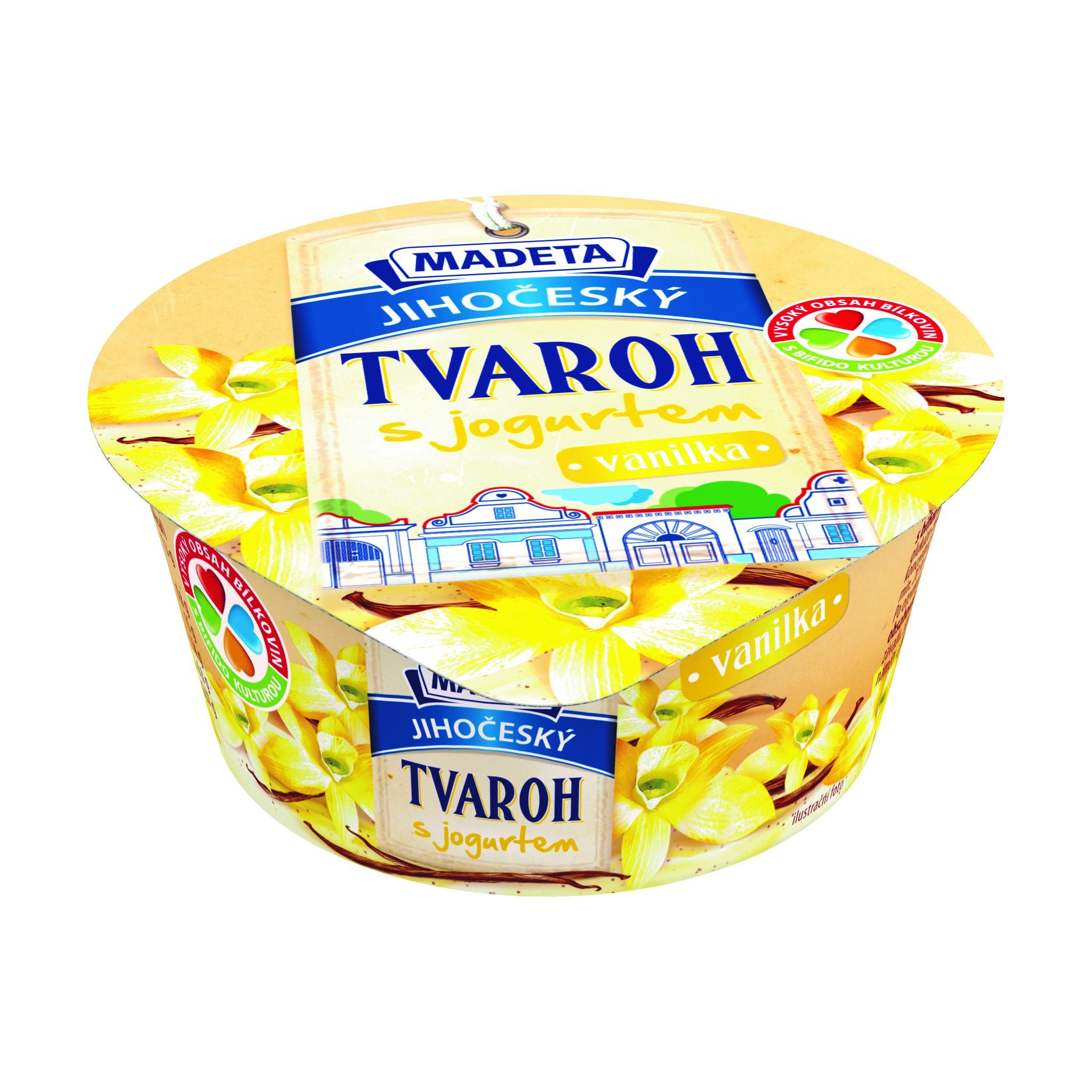 Značka Jihočeský tvaroh s jogurtem vanilka