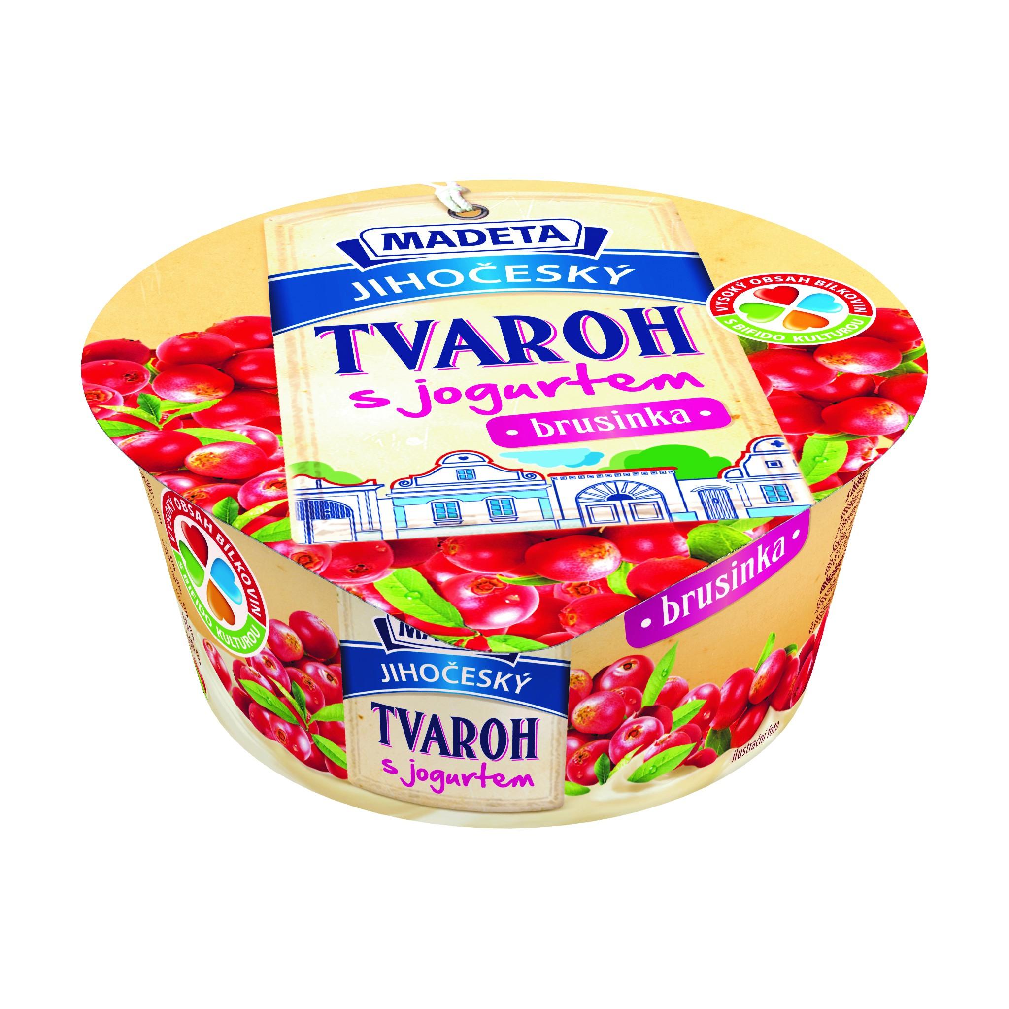 Značka Jihočeský tvaroh s jogurtem brusinka