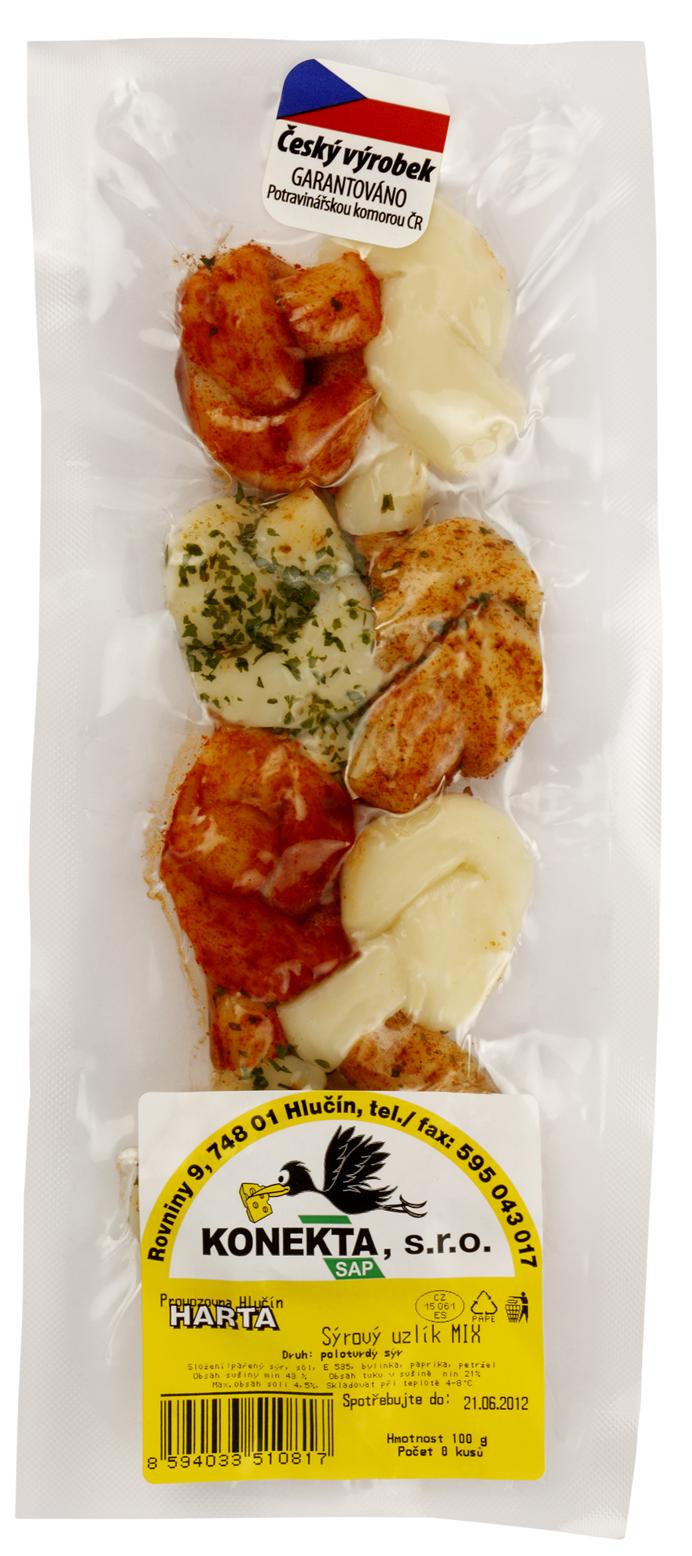 Značka Konekta sýrový uzlík MIX