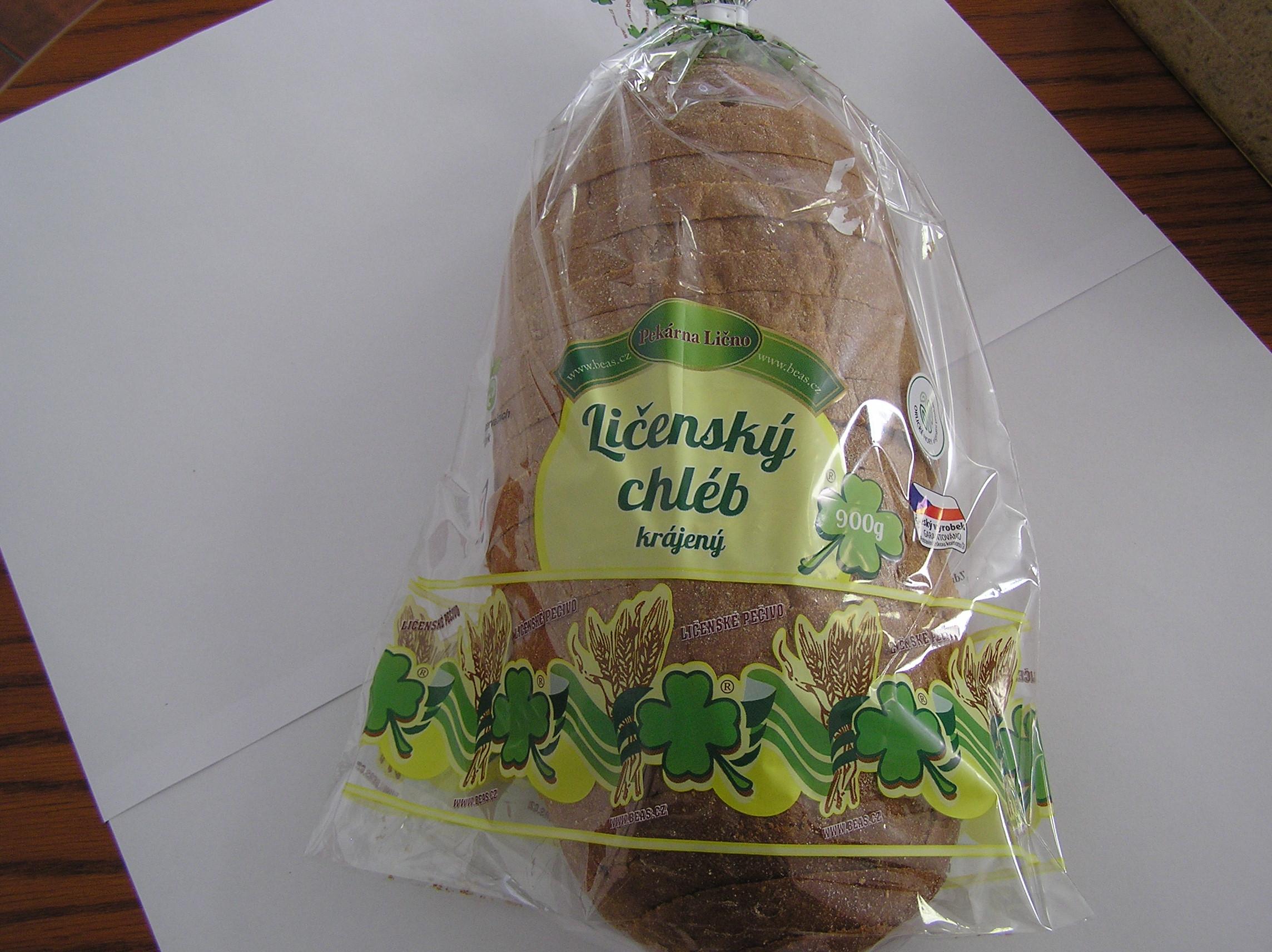 Značka Ličenský chléb krájený