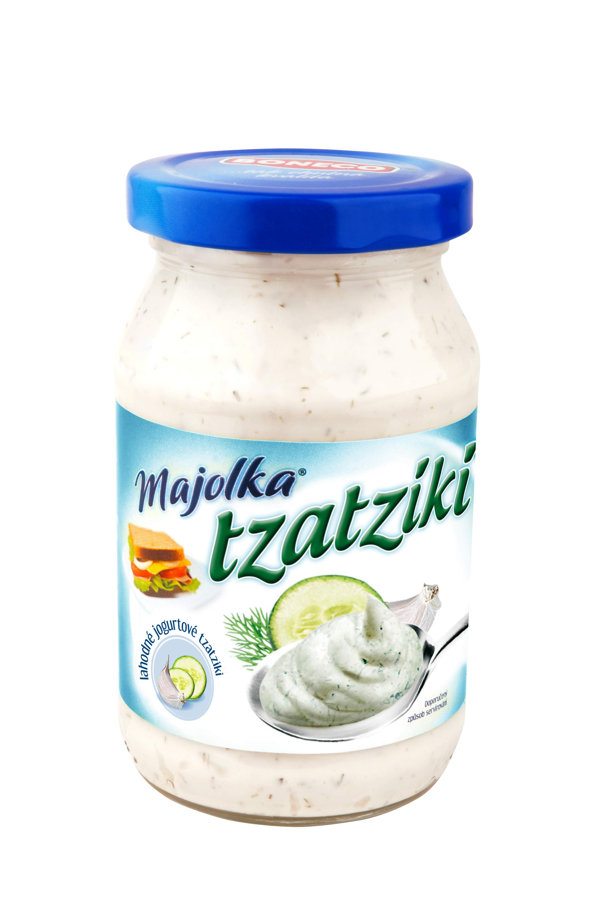 Značka Majolka jogurt.tzatziki 220ml