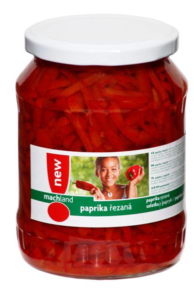 Značka Paprika řezaná 720 ml