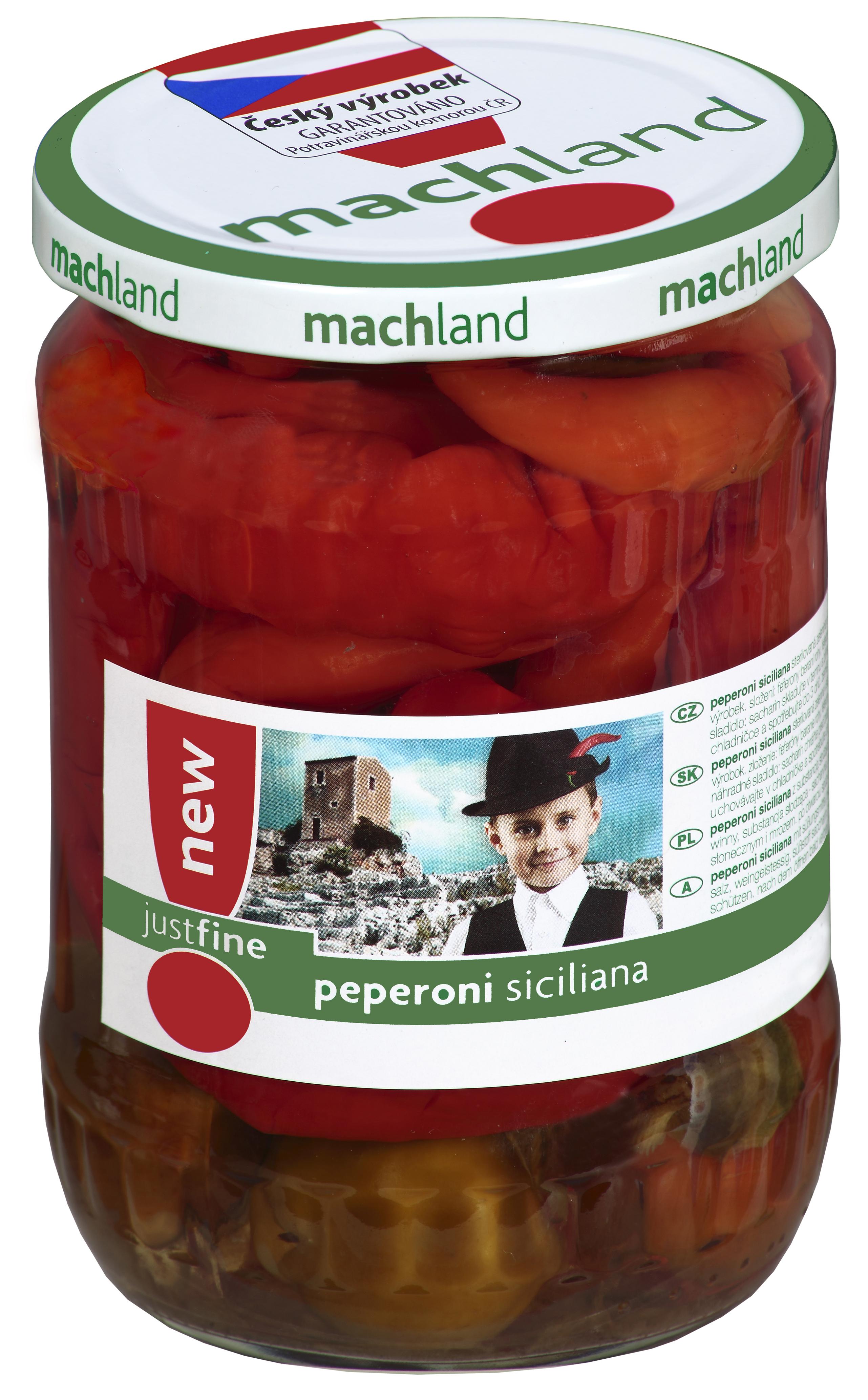 Značka Peperoni siciliana 580ml