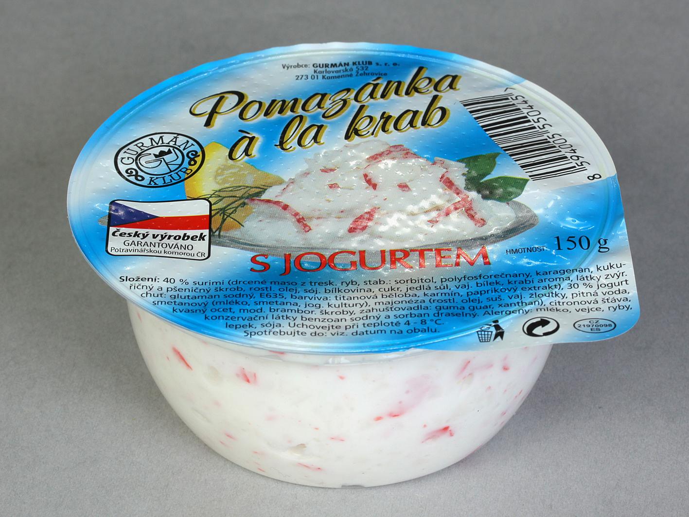 Značka Pomazánka á la krab s jogurtem 150g