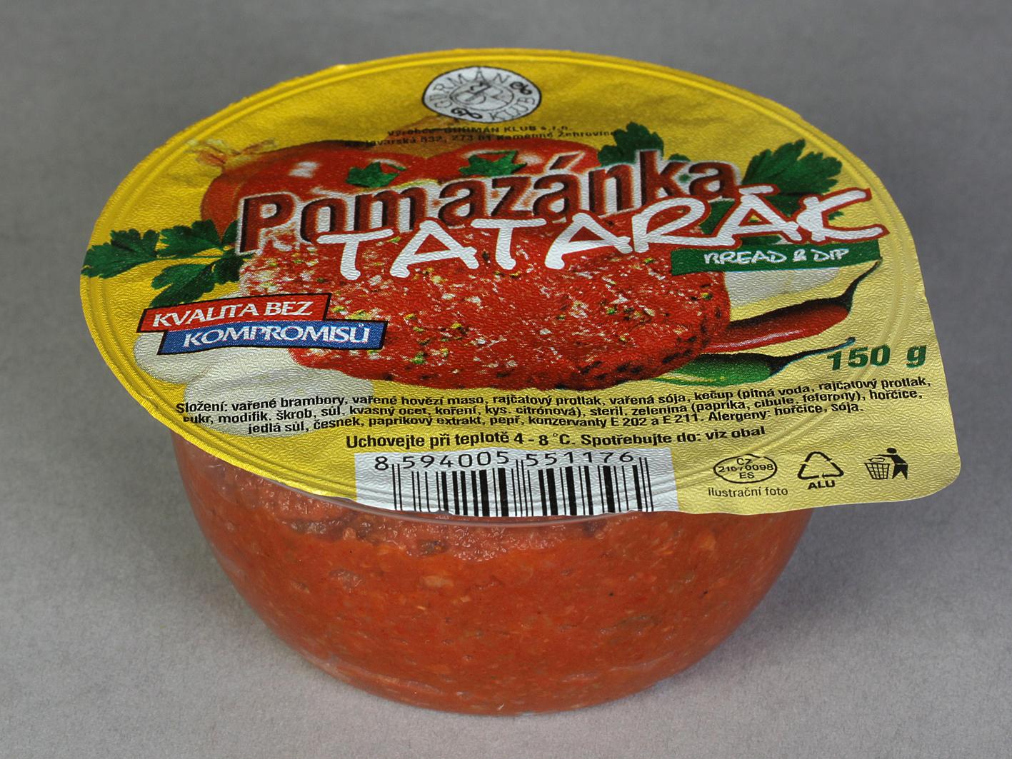 Značka Pomazánka Tatarák 150g