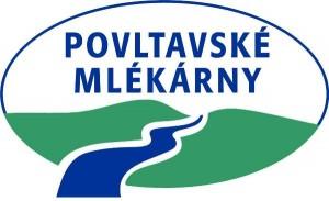 Logo POVLTAVSKÉ MLÉKÁRNY