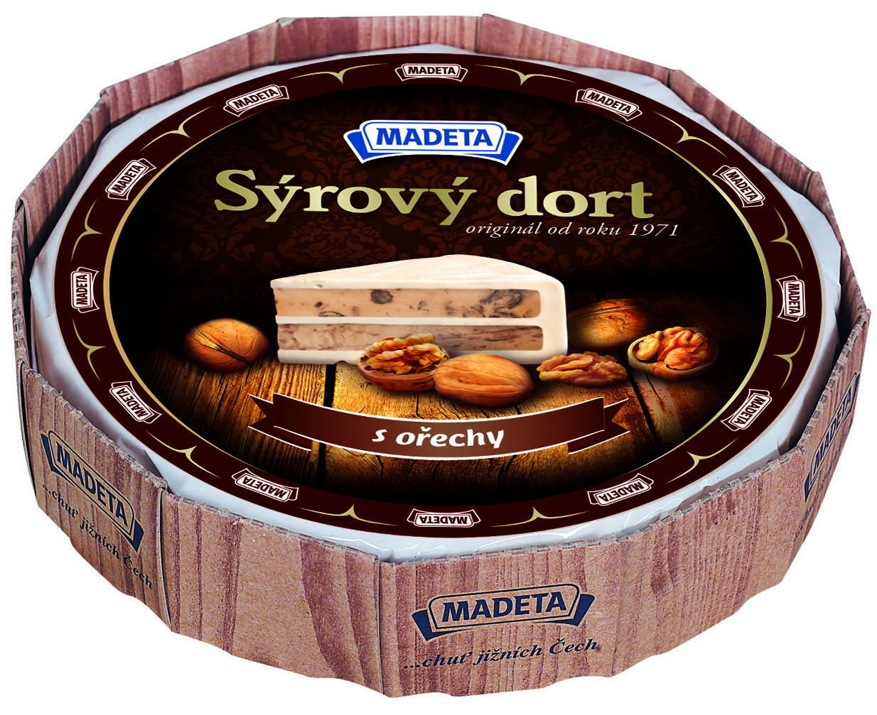 Značka Sýrový dort s ořechy