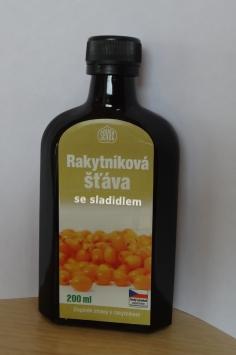 Značka Sevak star – Rakytníková šťáva se sladidlem