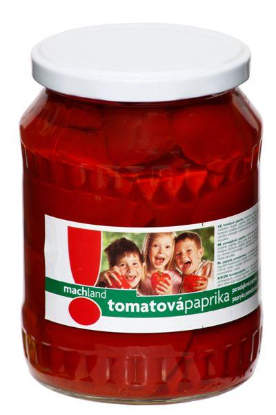 Značka Tomatová paprika čtvrcená 720 ml