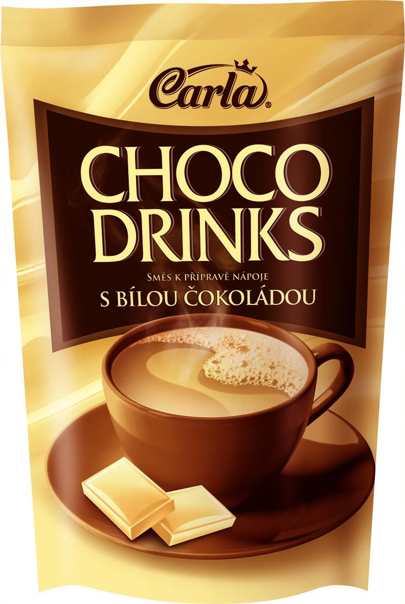 Značka Choco drinks bílá čokoláda