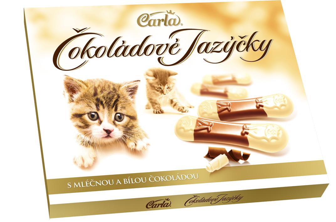 Značka Čokoládové jazýčky