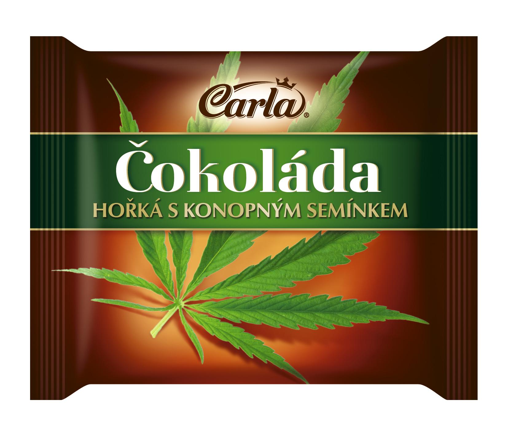 Značka Čokoláda hořká s konopným semínkem