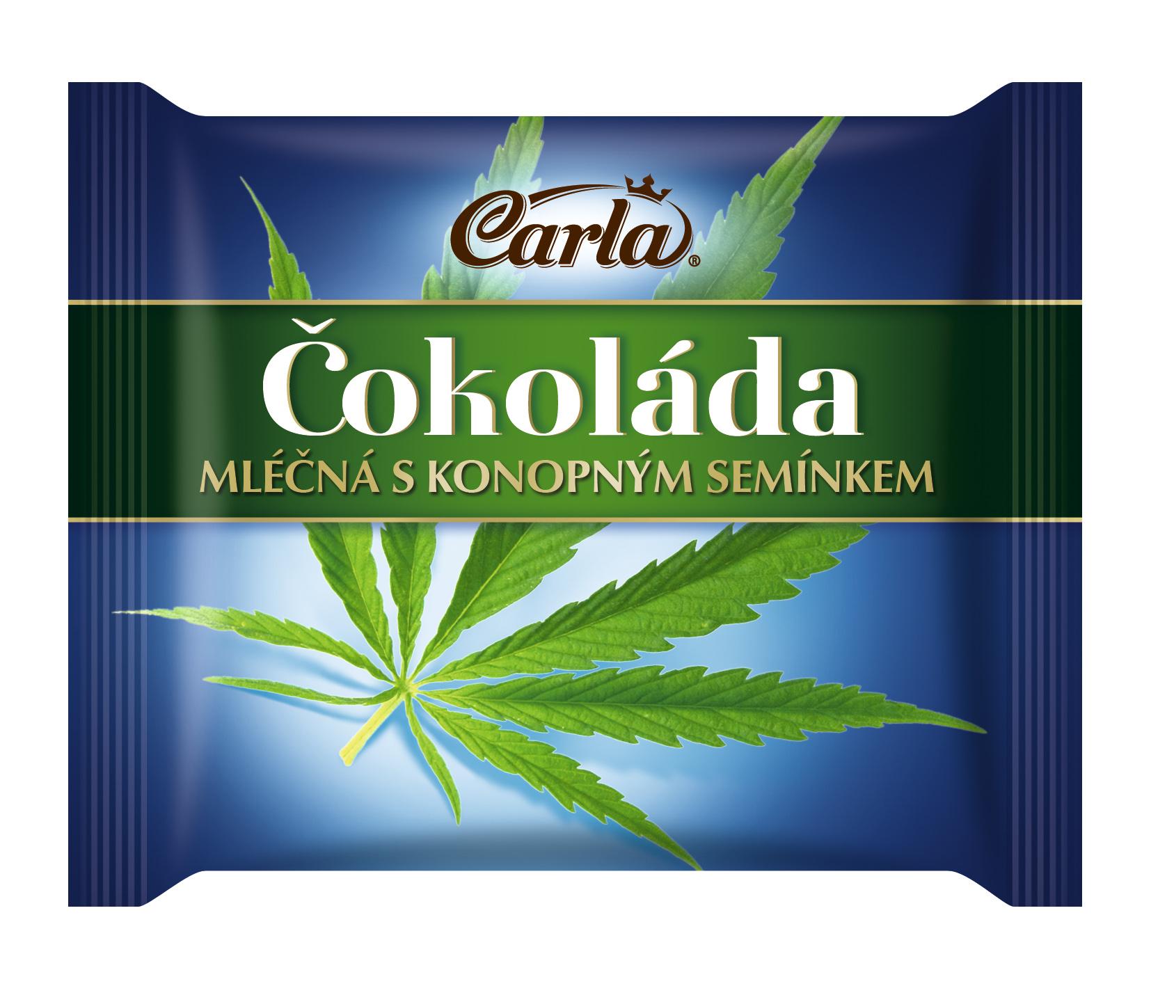 Značka Čokoláda mléčná s konopným semínkem