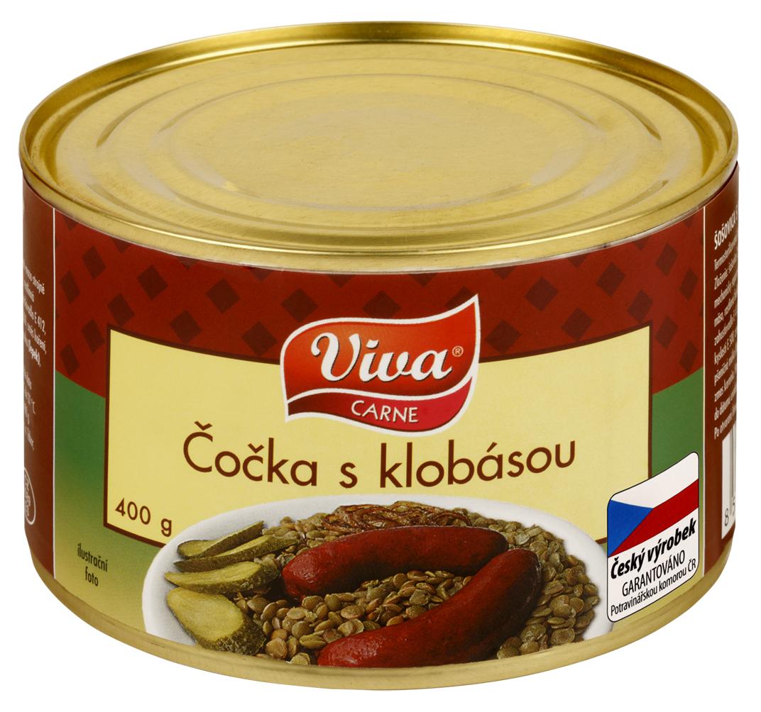 Značka Viva čočka s klobásou_01