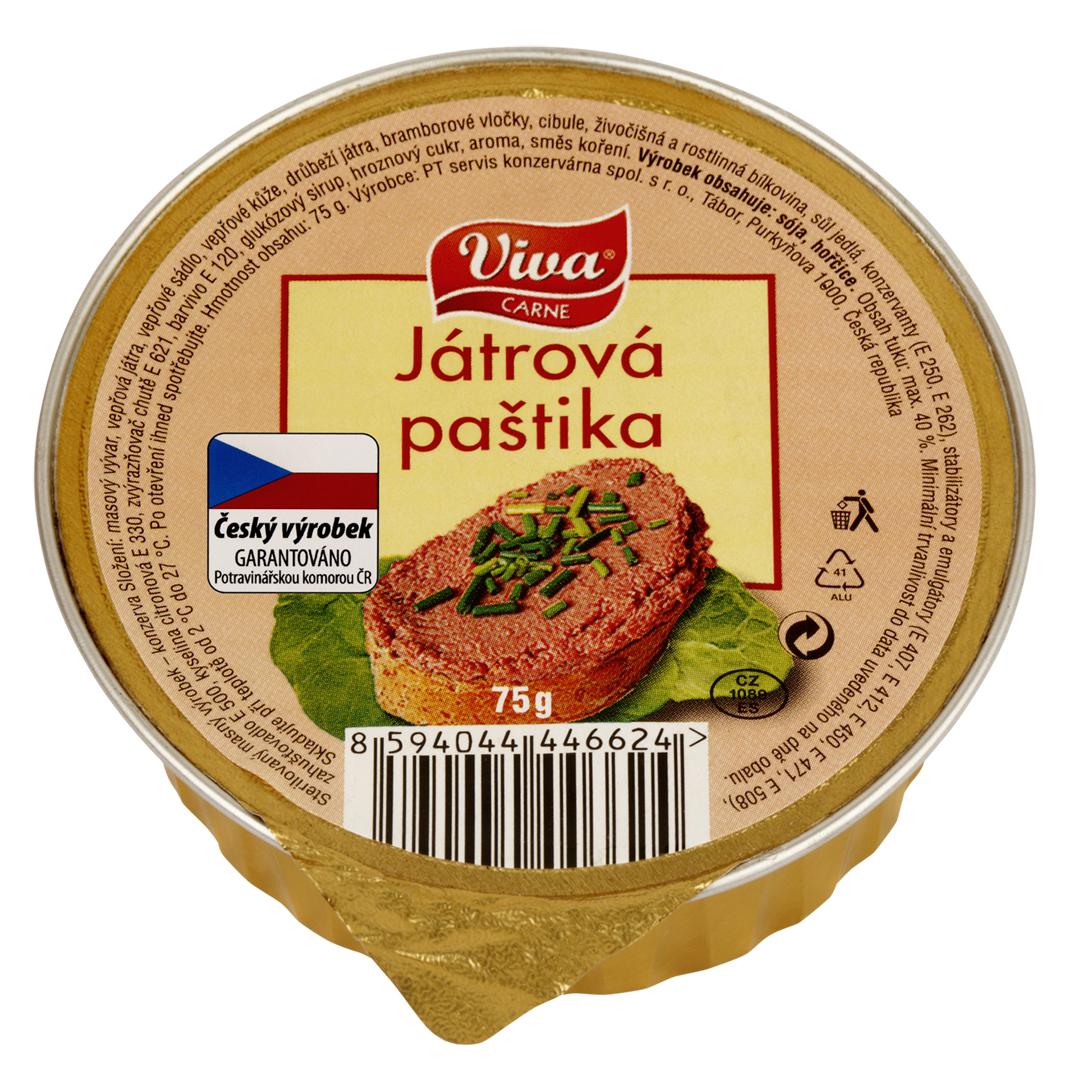 Značka Viva játrová paštika 75g_01