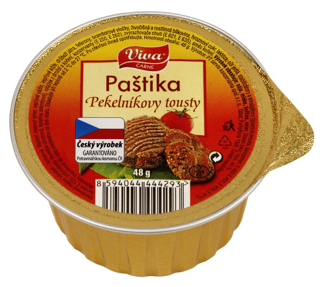 Značka Viva paštika pekelník toust 48g_01