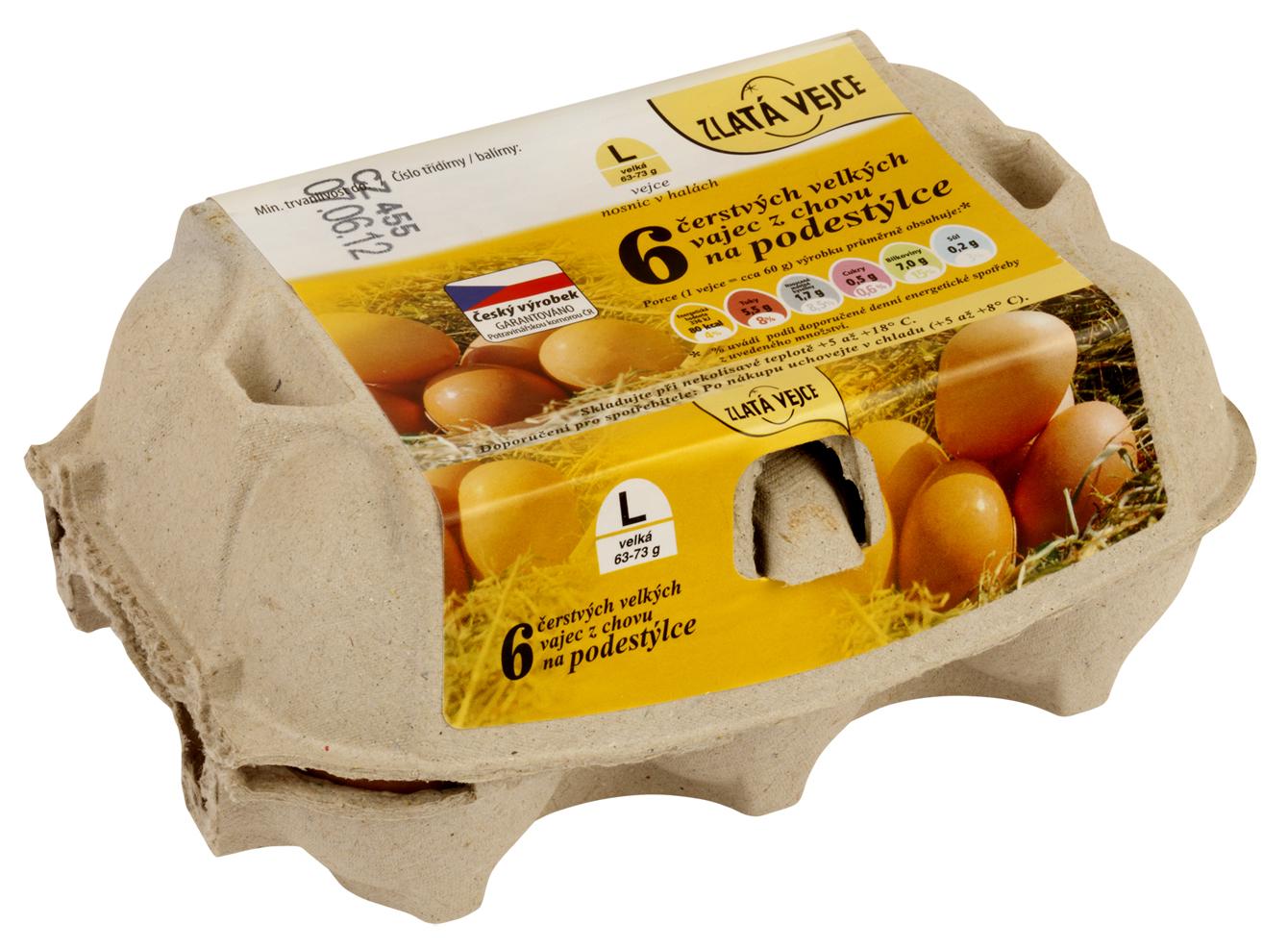Značka Zlatá vejce L