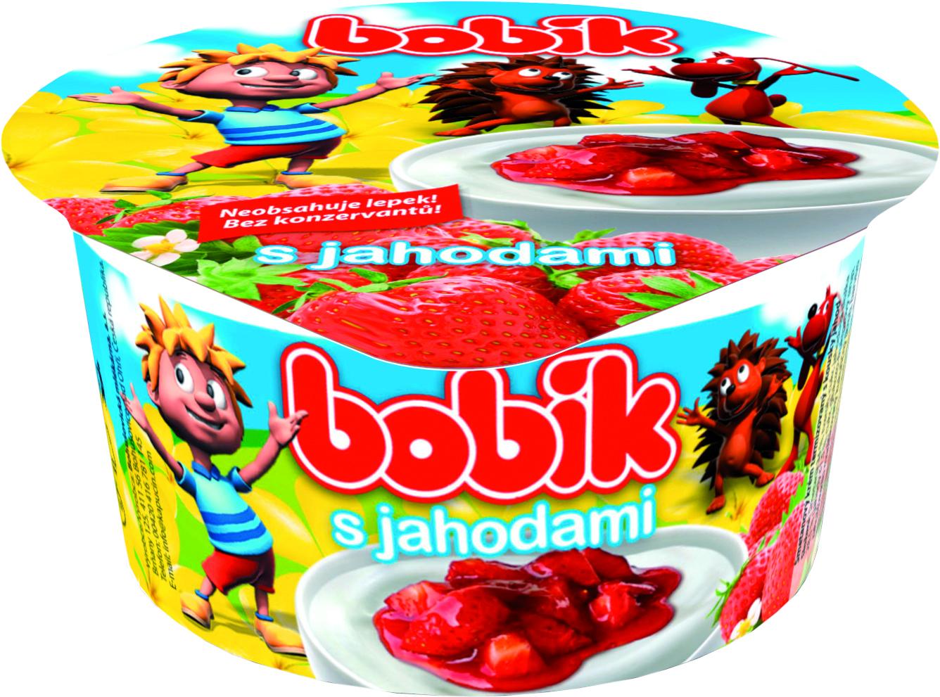 Značka Bobík s jahodami