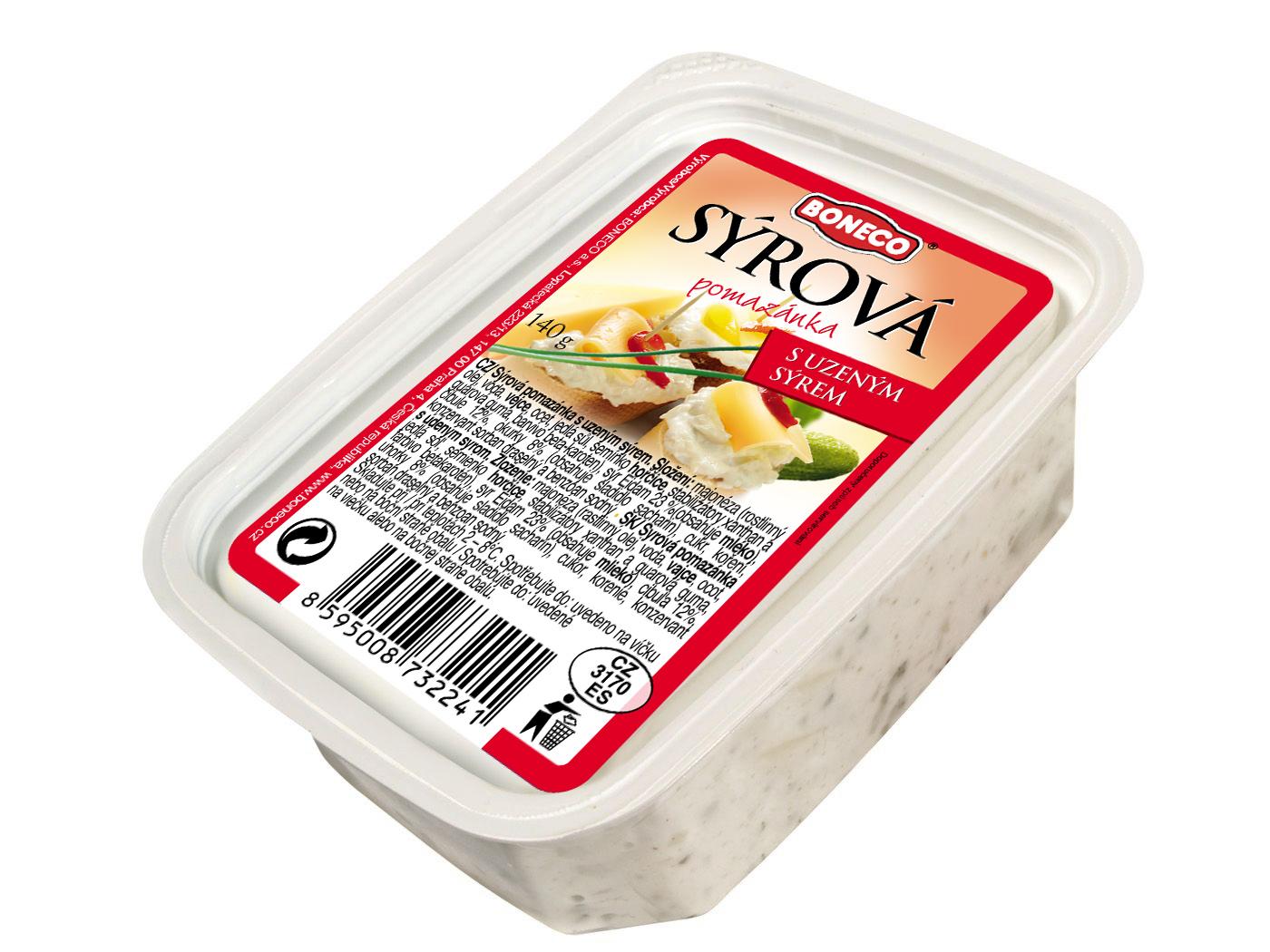 Značka Sýrová pomazánka s uzeným sýrem