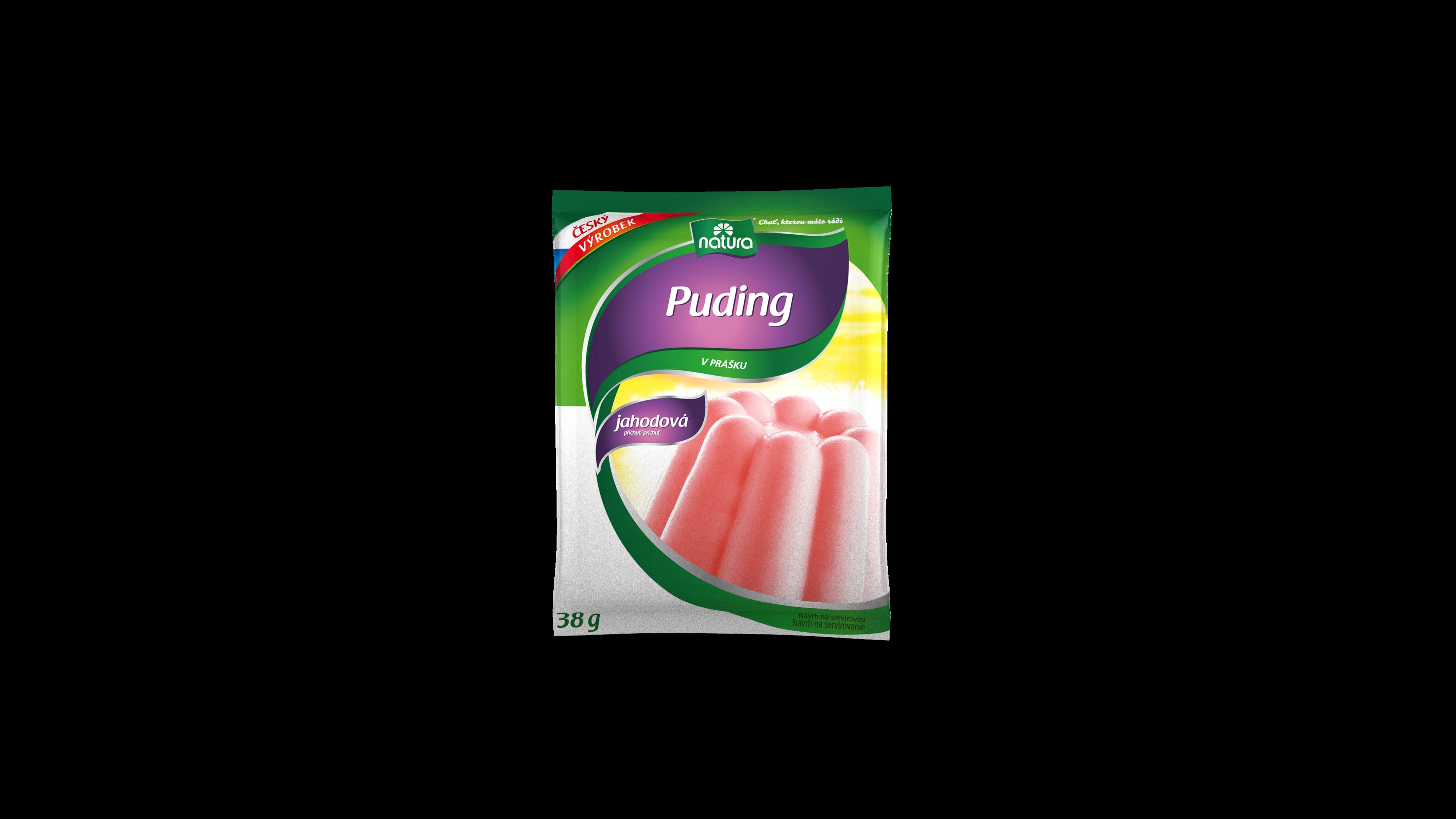 Značka Puding-jahodovy