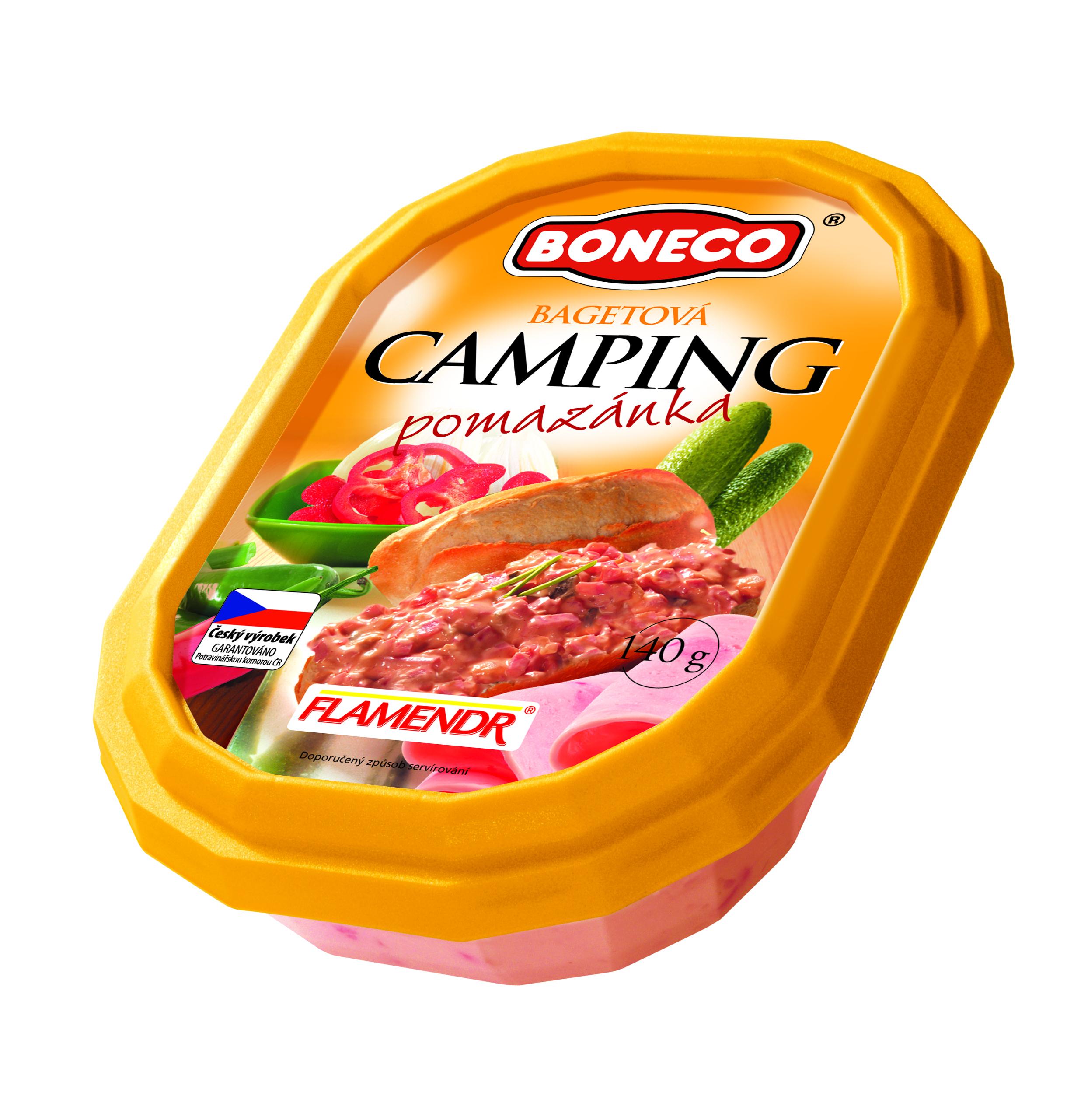Značka Bagetová pomazánka Camping