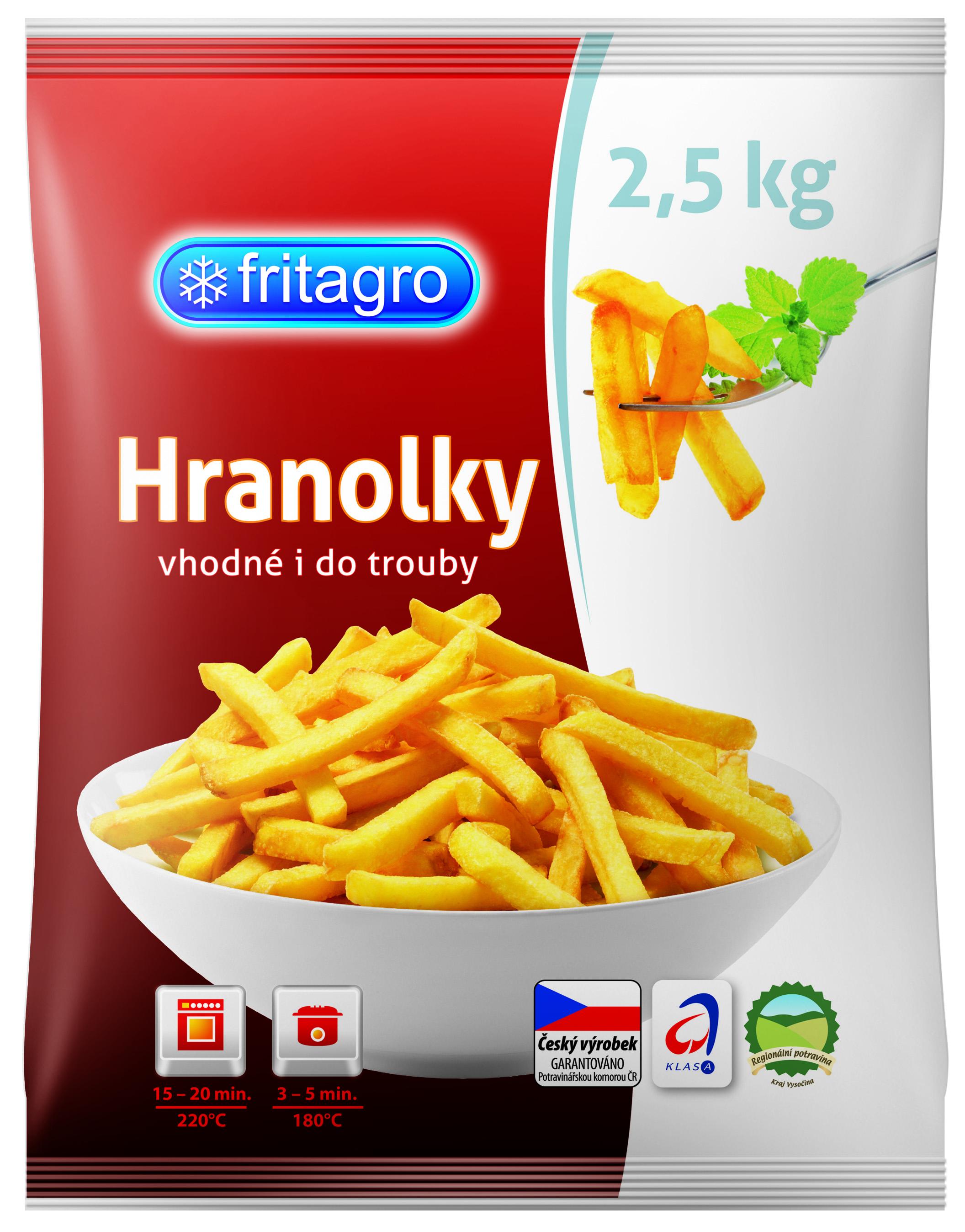 Značka FRITAGRO hranolky 2,5kg